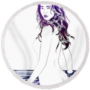 Water Nymph Xii Round Beach Towel