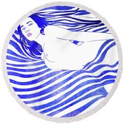 Water Nymph Xiv Round Beach Towel