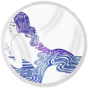 Water Nymph Xix Round Beach Towel