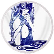 Water Nymph Xvi Round Beach Towel