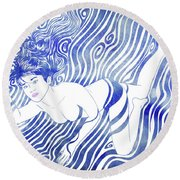 Water Nymph Xvii Round Beach Towel