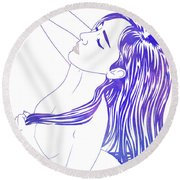Water Nymph Xviii Round Beach Towel