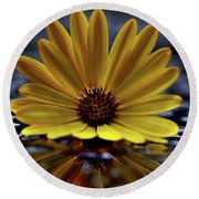 Water On Glass Round Beach Towel