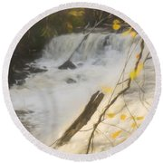 Water Over The Dam. Round Beach Towel