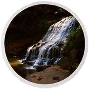 Round Beach Towel featuring the photograph Water Path by Raymond Earley
