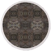 Water Pattern Round Beach Towel