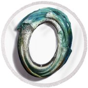 Water Ring I Round Beach Towel