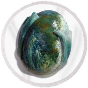 Water Ring II Round Beach Towel