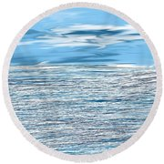 Water Scribbles Round Beach Towel