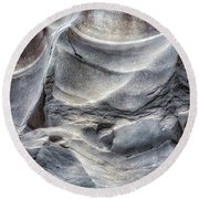 Water Sculpting Rock Art By Kaylyn Franks  Round Beach Towel
