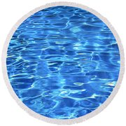 Water Shadows Round Beach Towel