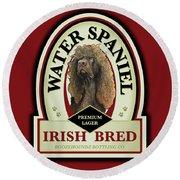 Water Spaniel Irish Bred Premium Lager Round Beach Towel