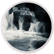 Water Stair Round Beach Towel