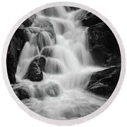water stair close to the Heinrich Heine hiking way, Harz Round Beach Towel