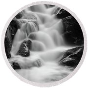 water stair in Ilsetal, Harz Round Beach Towel