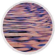 Round Beach Towel featuring the mixed media Water Study 4 by Lynda Lehmann