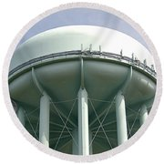 Water Tower Round Beach Towel by  Newwwman