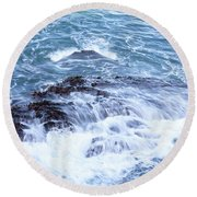 Water Turmoil Round Beach Towel