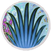 Water World Botanical Round Beach Towel by Ann Johndro-Collins