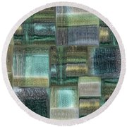 Watercolor 02 Round Beach Towel