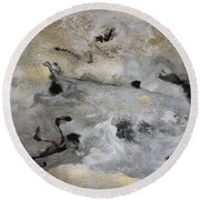 Watercolor Abstract Print - Diptych Part2 Round Beach Towel
