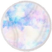 Watercolor Background Round Beach Towel by Serena King