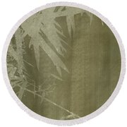 Watercolor Bamboo 02 Round Beach Towel