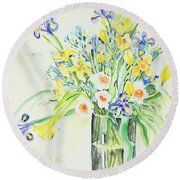 Watercolor Series 143 Round Beach Towel