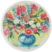 Watercolor Series 58 Round Beach Towel