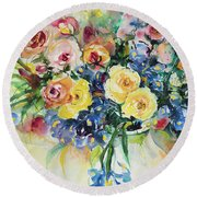 Watercolor Series 62 Round Beach Towel