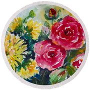 Watercolor Series No. 212 Round Beach Towel