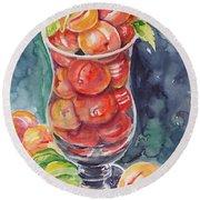 Watercolor Series No. 214 Round Beach Towel