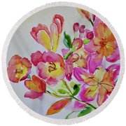 Watercolor Series No. 225 Round Beach Towel