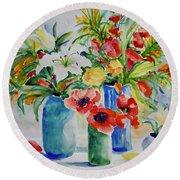 Watercolor Series No. 256 Round Beach Towel