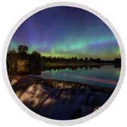 Round Beach Towel featuring the photograph Watercolors by Aaron J Groen