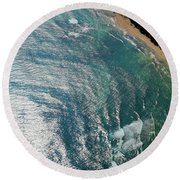 Watercolros Round Beach Towel