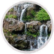 Waterfall Series Round Beach Towel