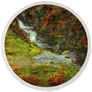 Waterfall 1 #g9 Round Beach Towel