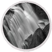 Waterfall 1577 Round Beach Towel