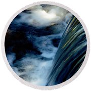 Round Beach Towel featuring the photograph Waterfall by Elaine Manley
