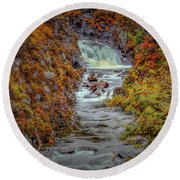 Waterfall #g8 Round Beach Towel