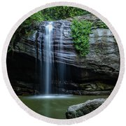 Round Beach Towel featuring the photograph Waterfall In Paradise by Keiran Lusk