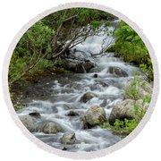 Waterfall Picture - Alaska Round Beach Towel