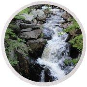 Waterfall Pillsbury State Park Round Beach Towel