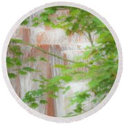Waterfall, Portland Round Beach Towel
