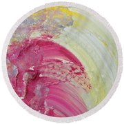 Waterfall In Pink Round Beach Towel
