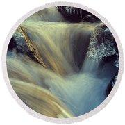 Waterfall Round Beach Towel by Scott Meyer