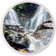 Waterfall Silence Round Beach Towel
