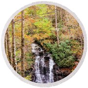 Waterfall Waters Round Beach Towel