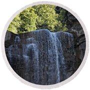 Waterfalls #1 Round Beach Towel
